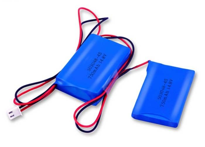 Medical Equipment 14.8V Lithium Polymer Battery Pack 4S1P 750mah